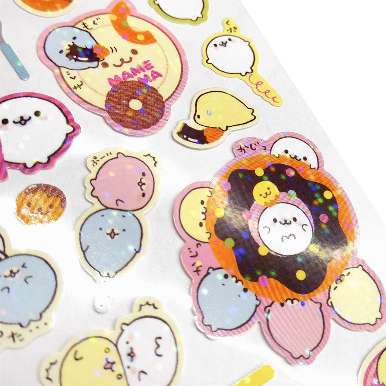 Mamegoma Sea Lion Glitters Sticker SE07101 ( Glitter Layer )
