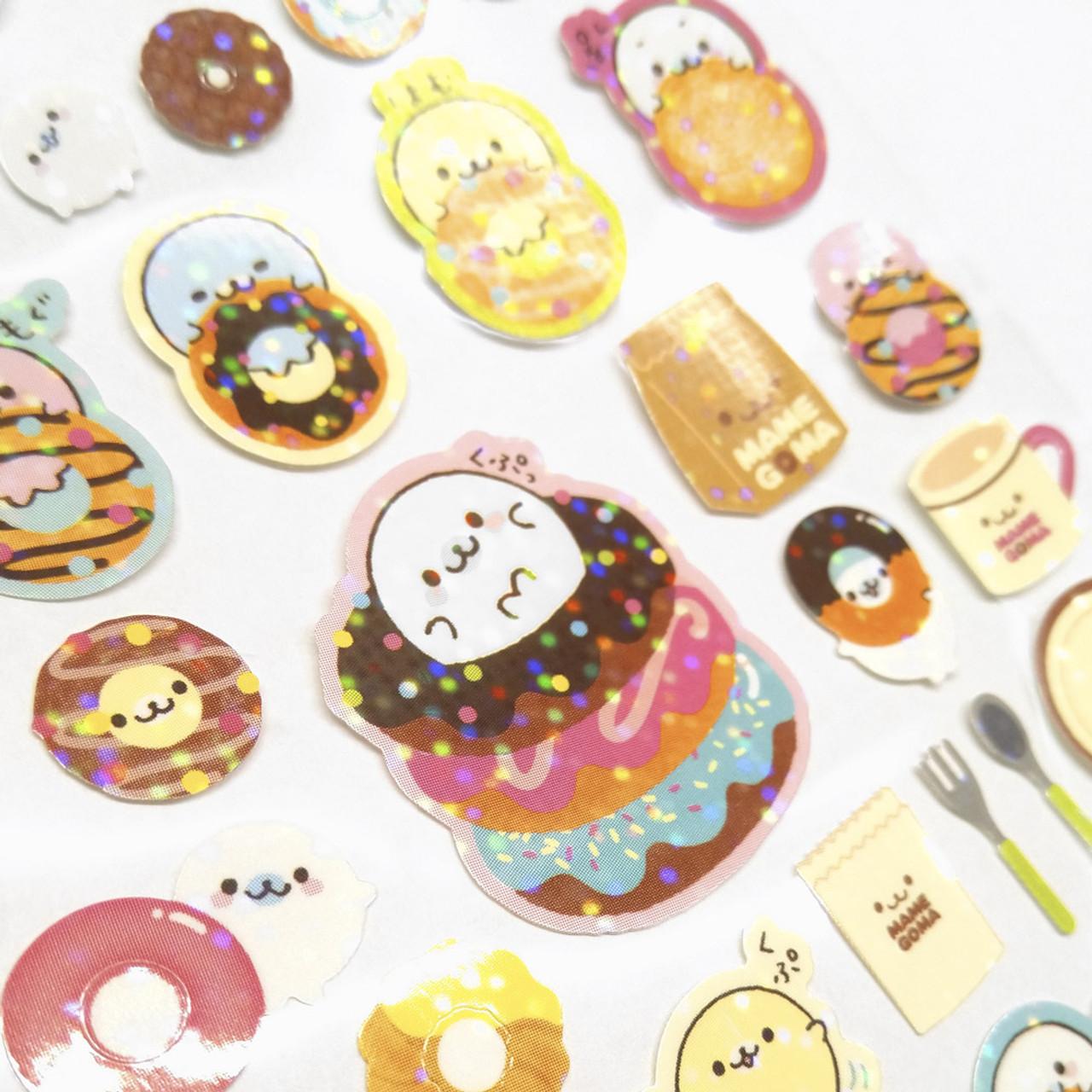 Mamegoma Sea Lion Glitters Sticker SE07102 ( Glitter Layer )