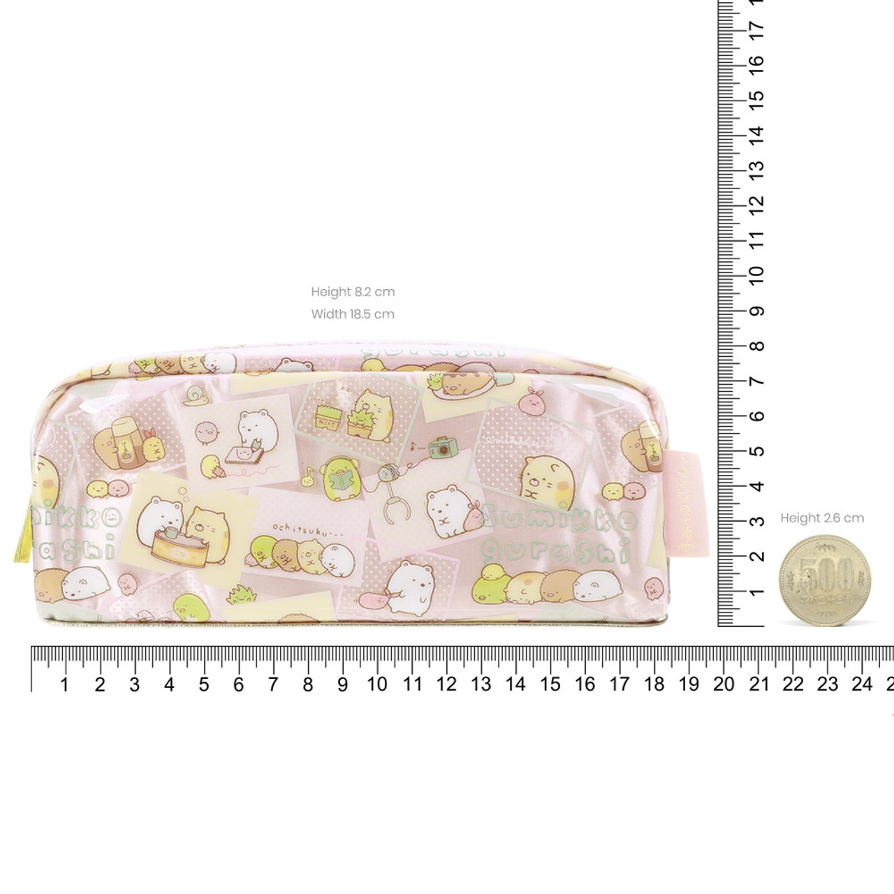 Sumikko Gurashi PVC Wrap Pink Pen Pouch ( Proportion )