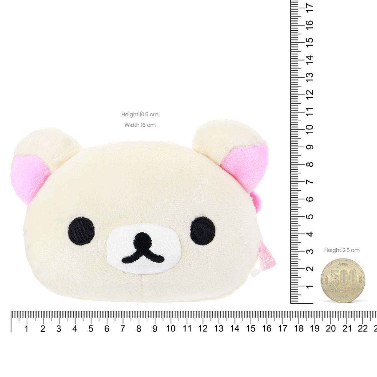 Korilakkuma Face Plush Card Holder Pouch ( Proportion )