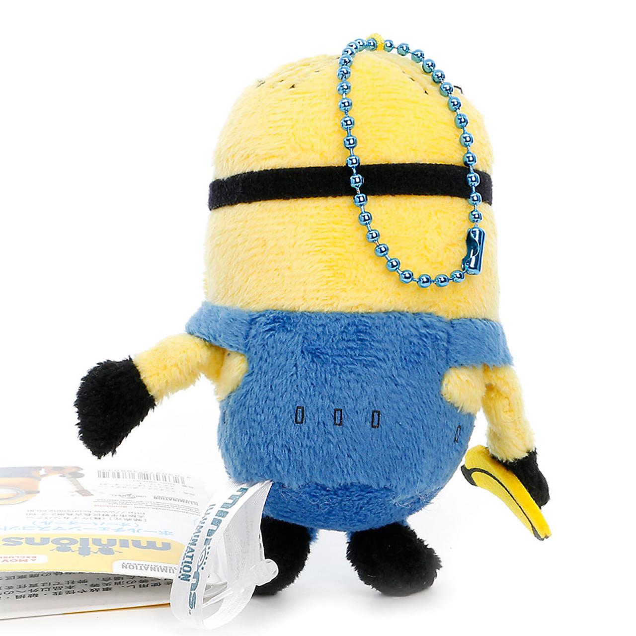 Minions Stuart Mascot Bead Chain Plush Doll Charms ( Back View )