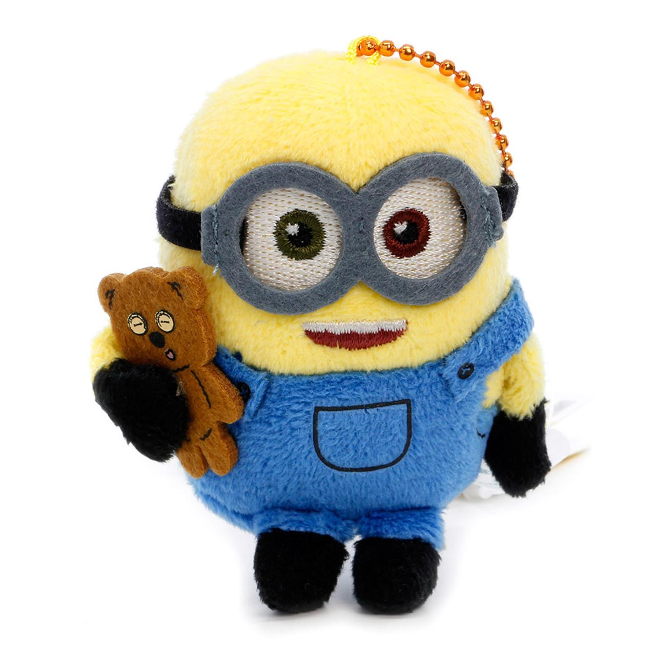Bob The Minions Mascot Plush Keychain ( Front View )