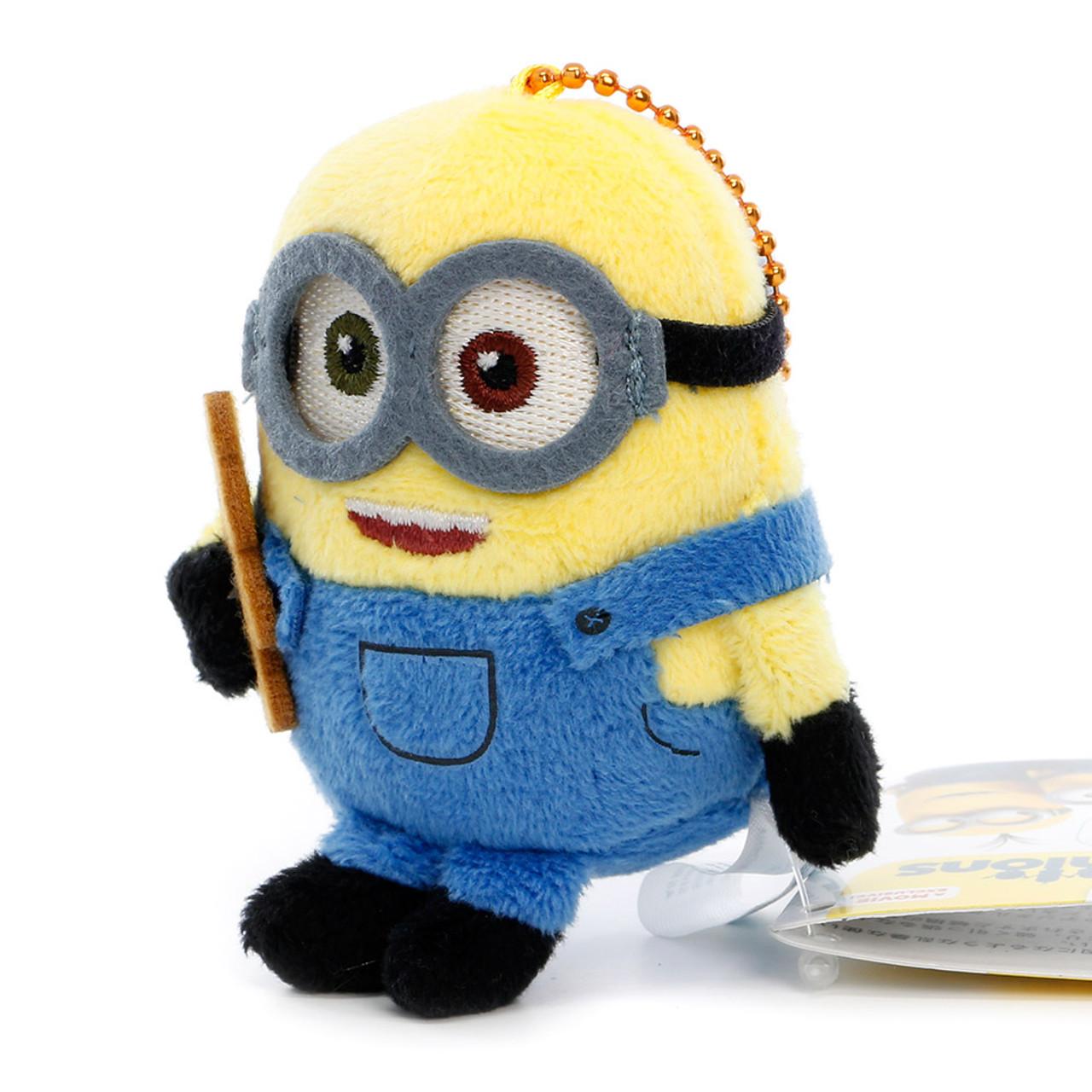 Bob The Minions Mascot Plush Keychain ( Side View )