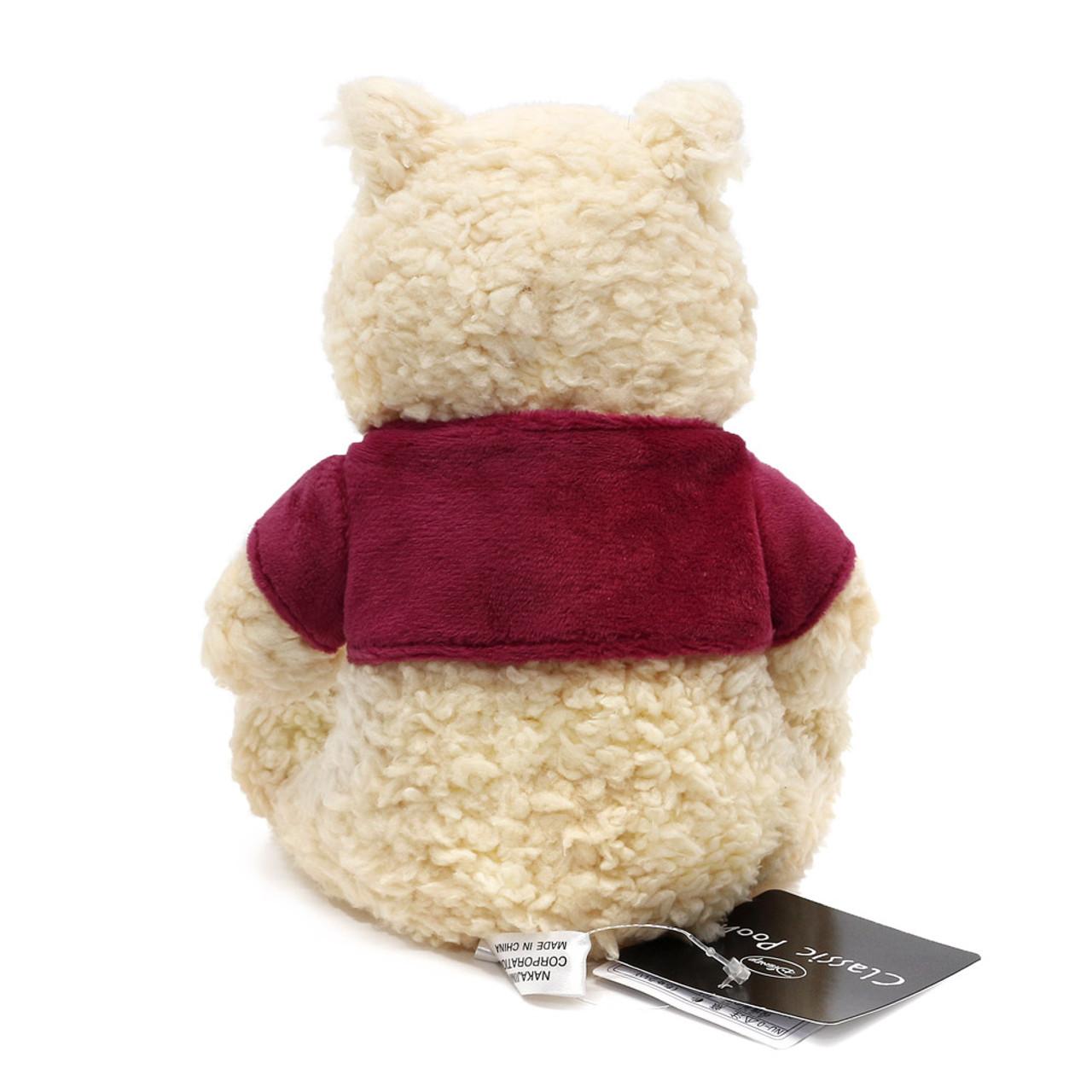 Disney Winnie The Pooh Classic Fluffy Stuffed Animal ( Back View )