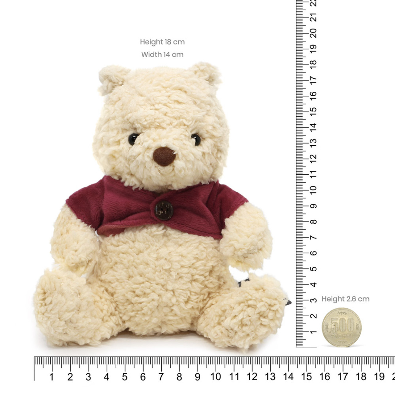 Disney Winnie The Pooh Classic Fluffy Stuffed Animal ( Proportion )