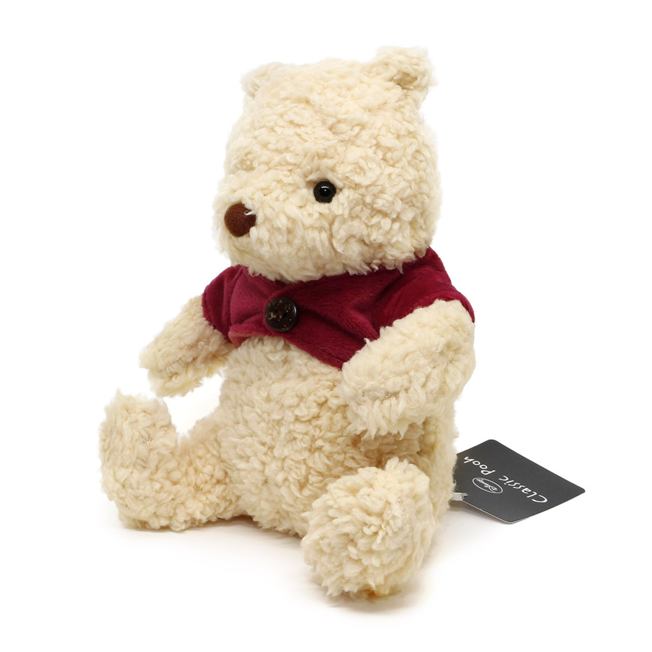 Disney Winnie The Pooh Classic Fluffy Stuffed Animal ( Side View )