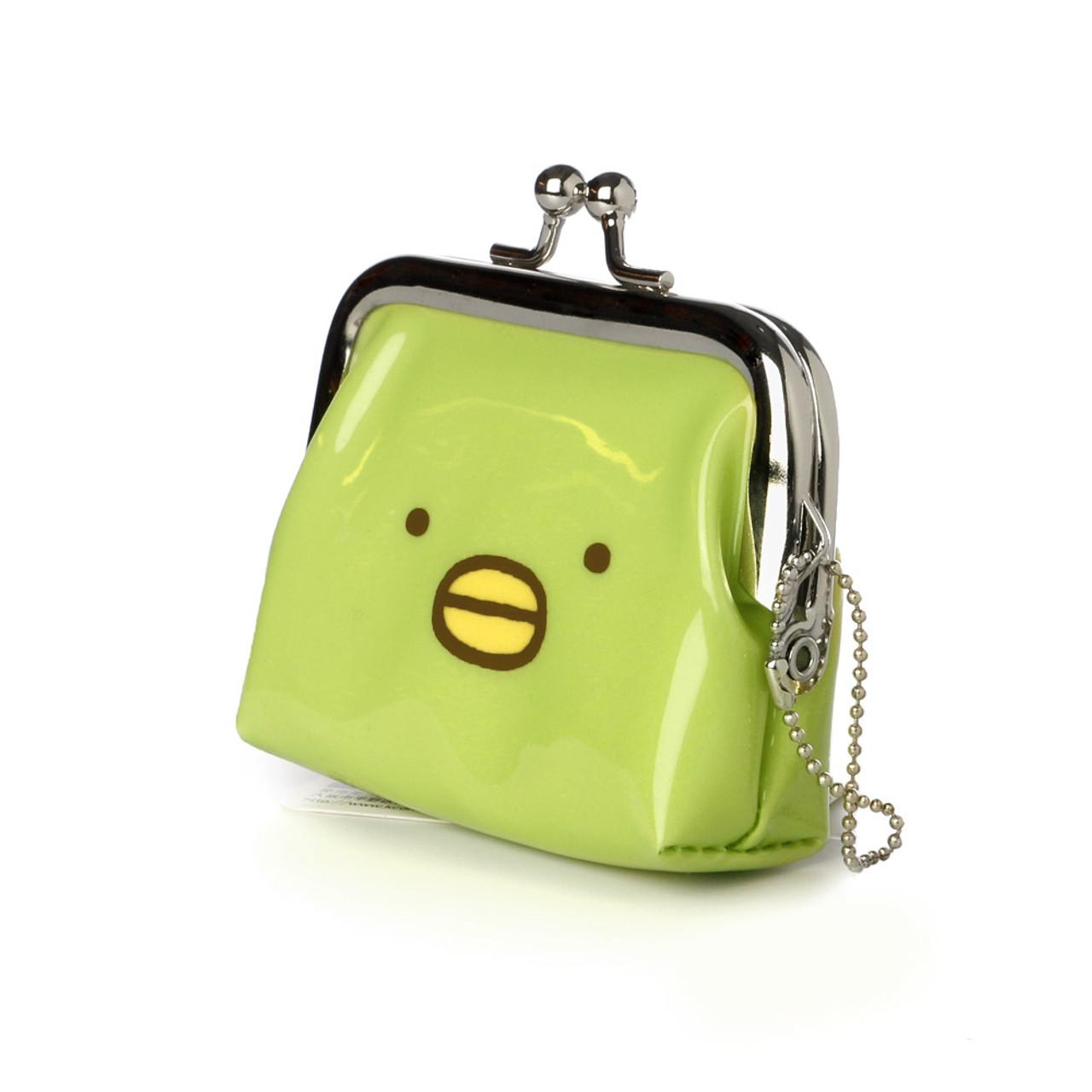 Sumikko Gurashi Green Penguin Ball Clasp Mini Coin Wallet ( Side View )