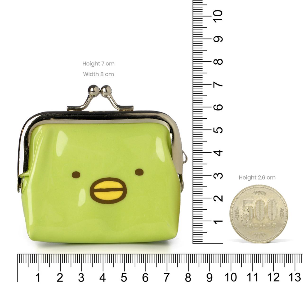 Sumikko Gurashi Green Penguin Ball Clasp Mini Coin Wallet ( Proportion )