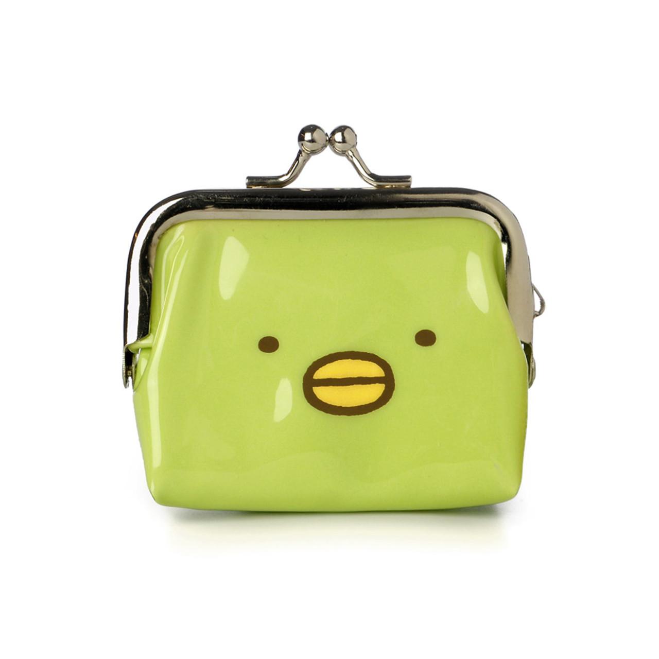 Sumikko Gurashi Green Penguin Ball Clasp Mini Coin Wallet ( Front View )
