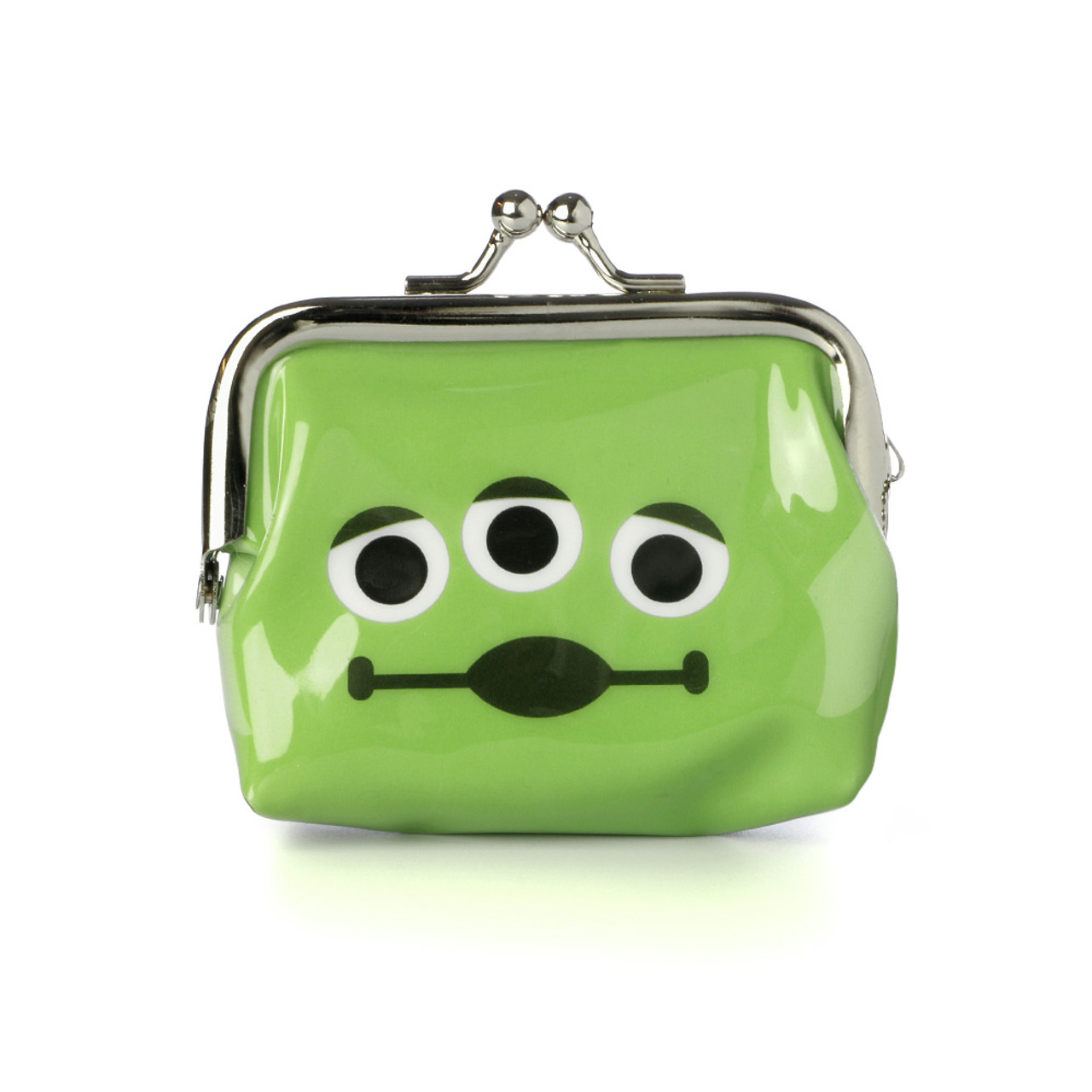 Toy Story Aliens Little Green Man Ball Clasp Mini Coin Wallet ( Front View )