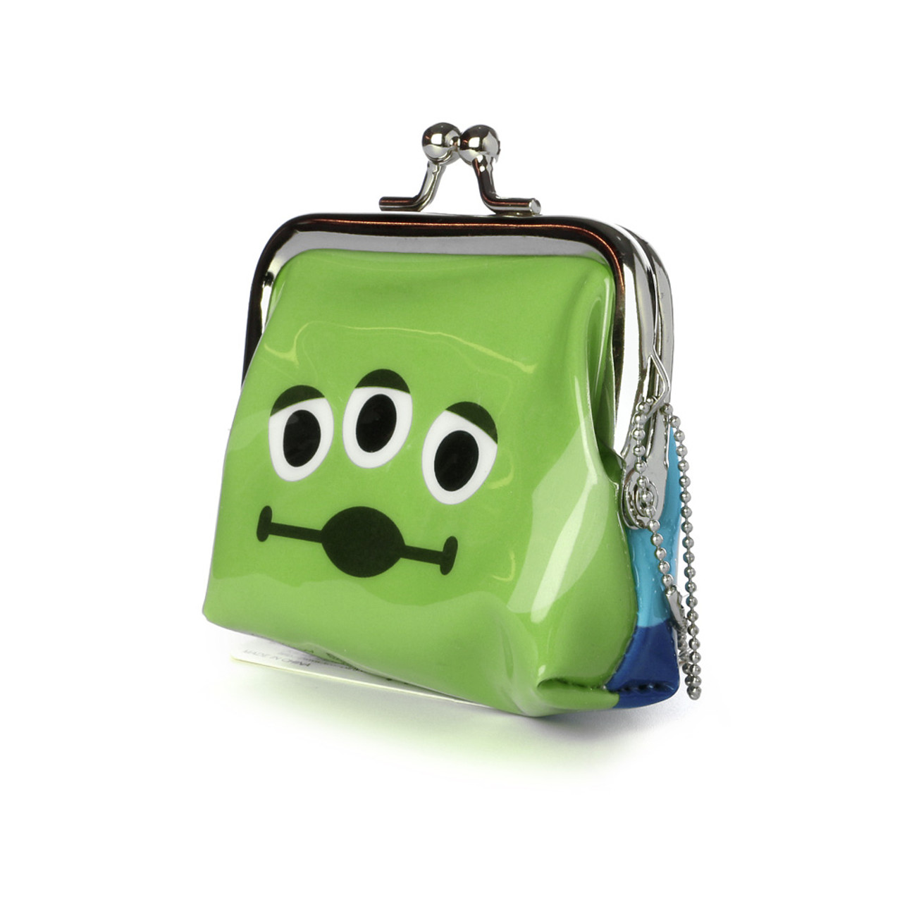 Toy Story Aliens Little Green Man Ball Clasp Mini Coin Wallet ( Side View )