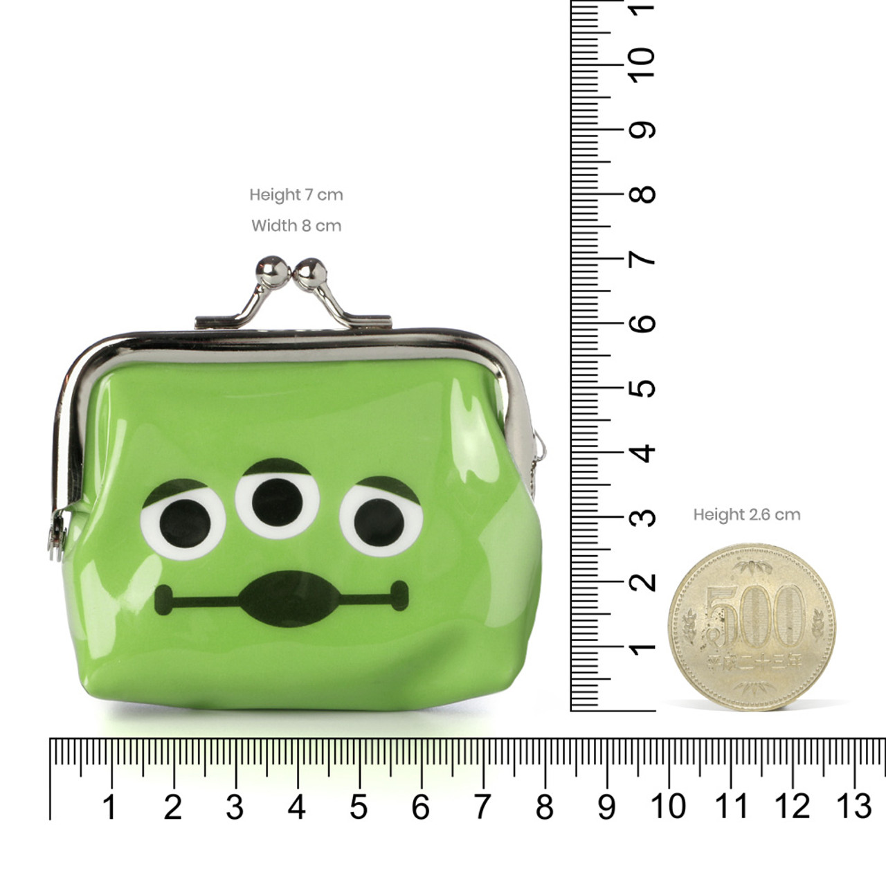 Toy Story Aliens Little Green Man Ball Clasp Mini Coin Wallet ( Proportion )