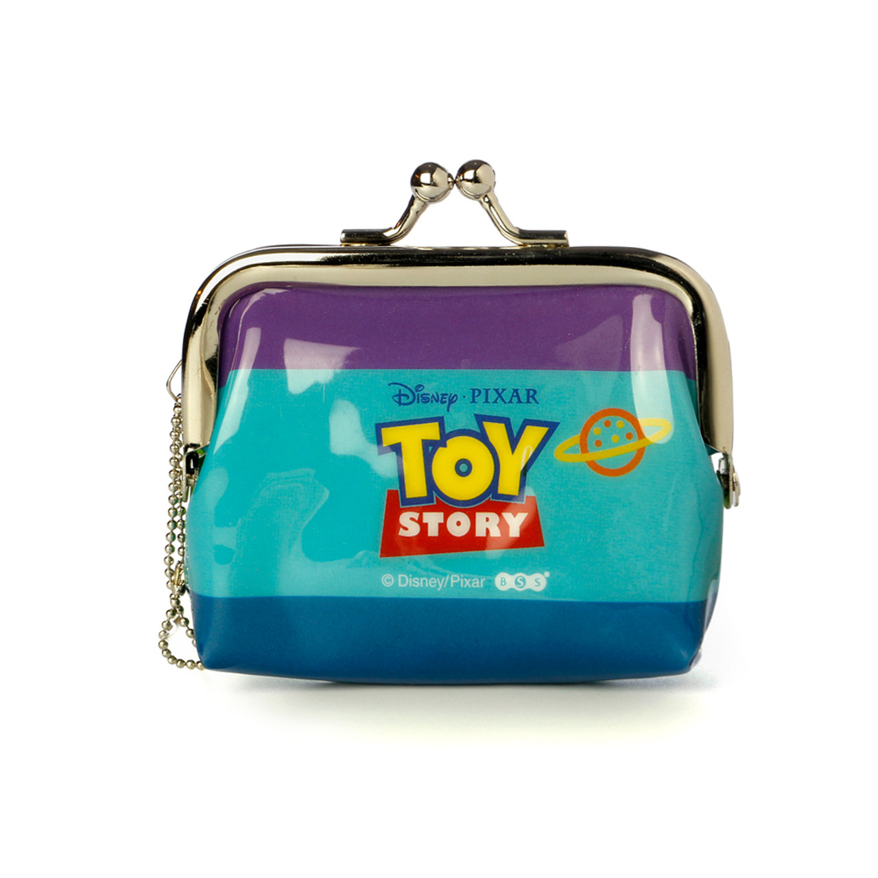 Toy Story Aliens Little Green Man Ball Clasp Mini Coin Wallet ( Back View )
