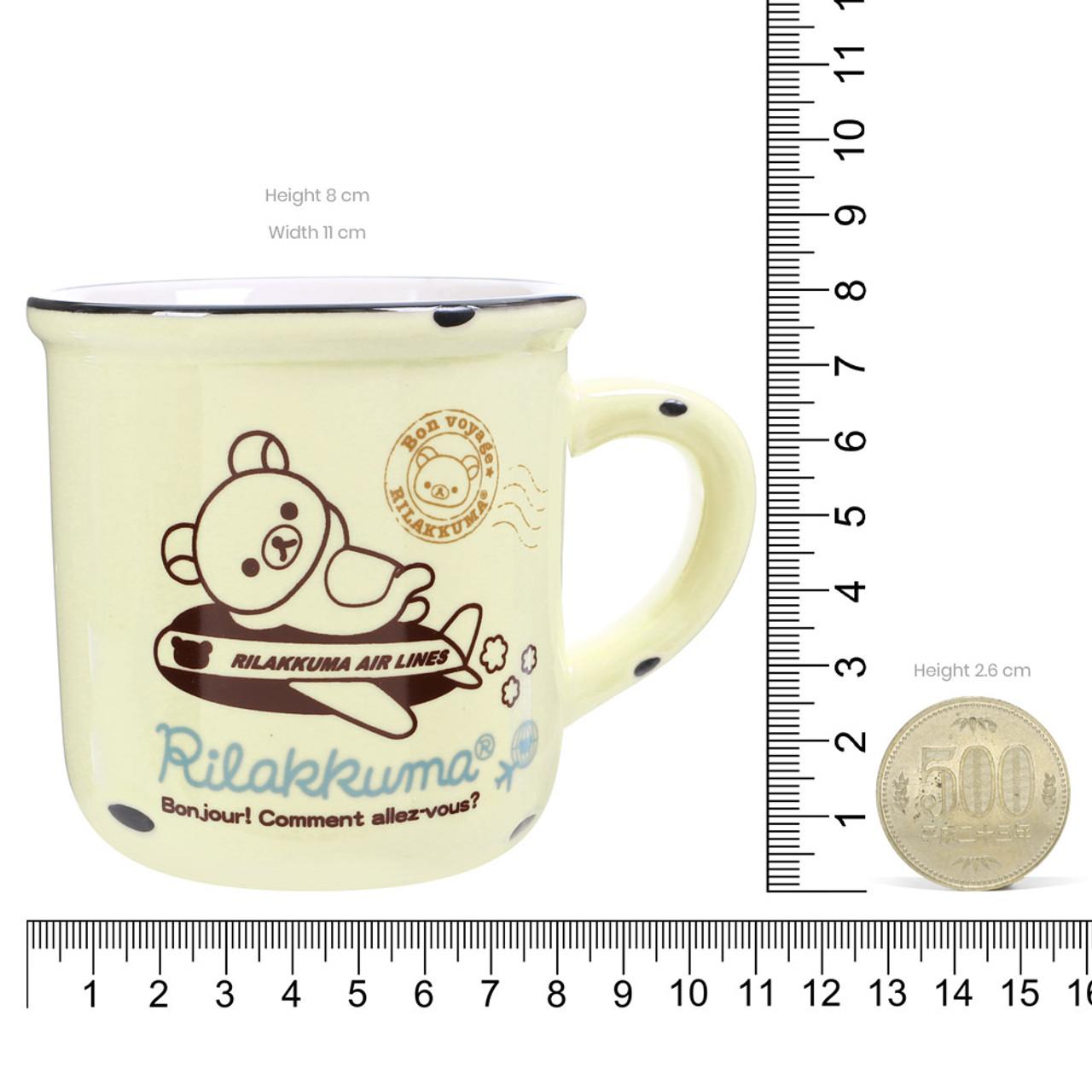 San-x Rilakkuma Cream Color Enamel Style Cup ( Proportion )