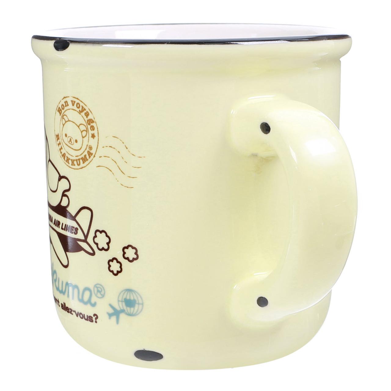 San-x Rilakkuma Cream Color Enamel Style Cup ( Side View )