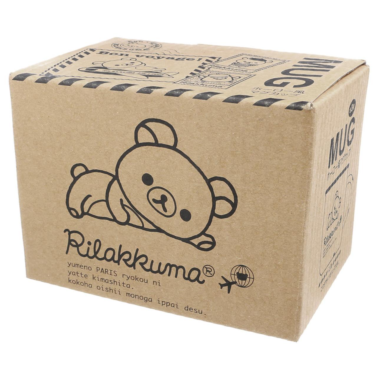 San-x Rilakkuma Cream Color Enamel Style Cup ( Box View )