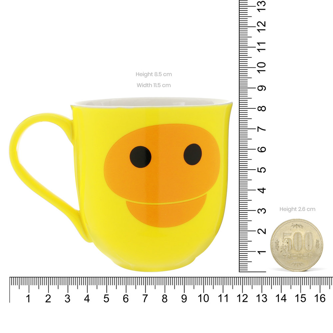 Kiiroitori Yellow Chicken Mouth Ceramic Cup ( Proportion )