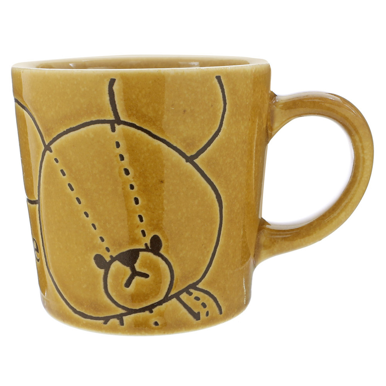 Japan The Bear School Jackie Ceramic Retro Tea Mug ( Front View )