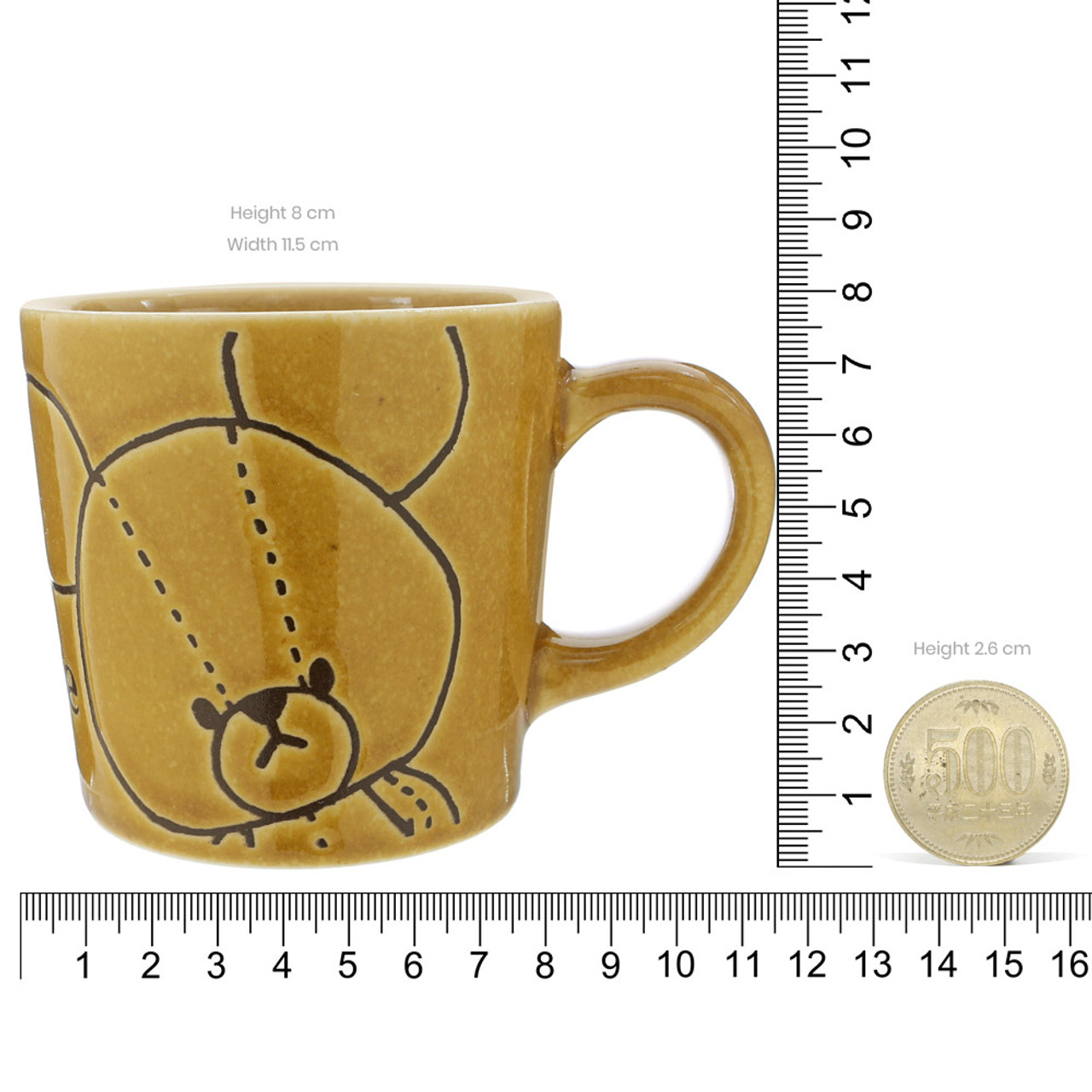 Japan The Bear School Jackie Ceramic Retro Tea Cup ( Proportion )