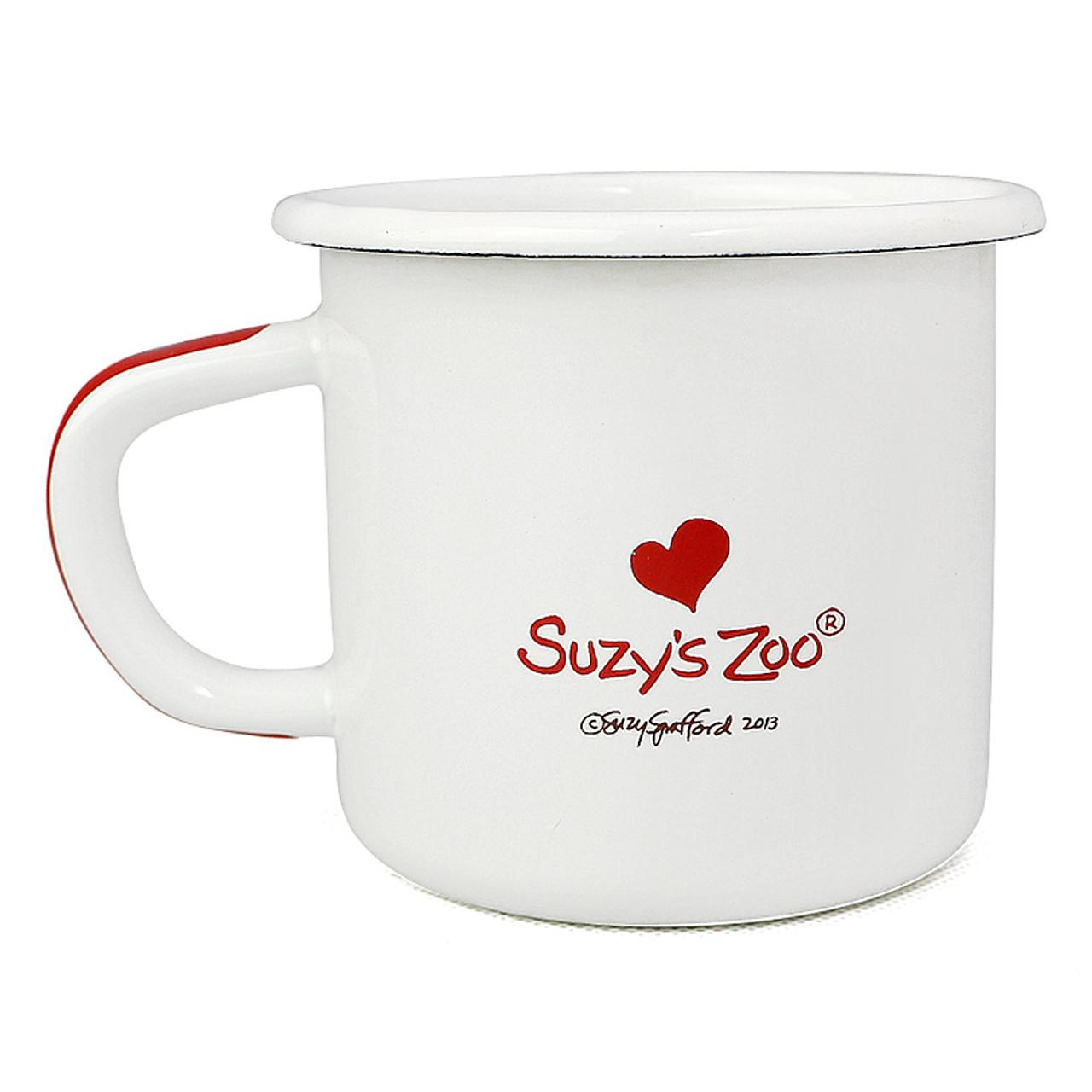 Suzy's Zoo Boof Bear Enamel Mug ( Back View )