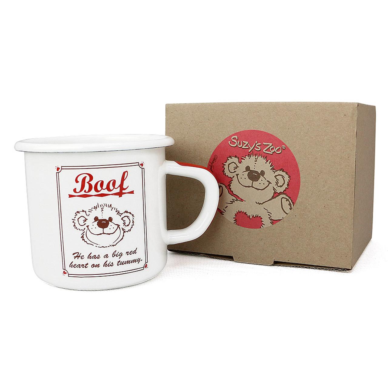 Suzy's Zoo Boof Bear Enamel Mug ( Box View )