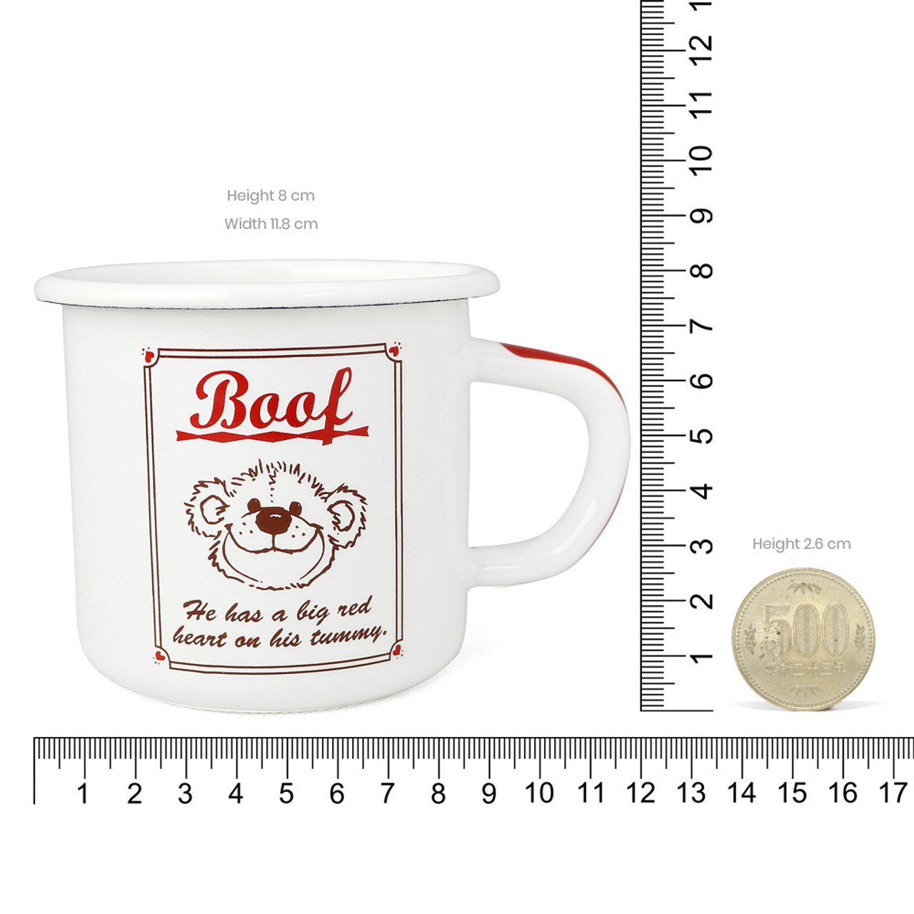 Suzy's Zoo Boof Bear Enamel Mug ( Proportion )
