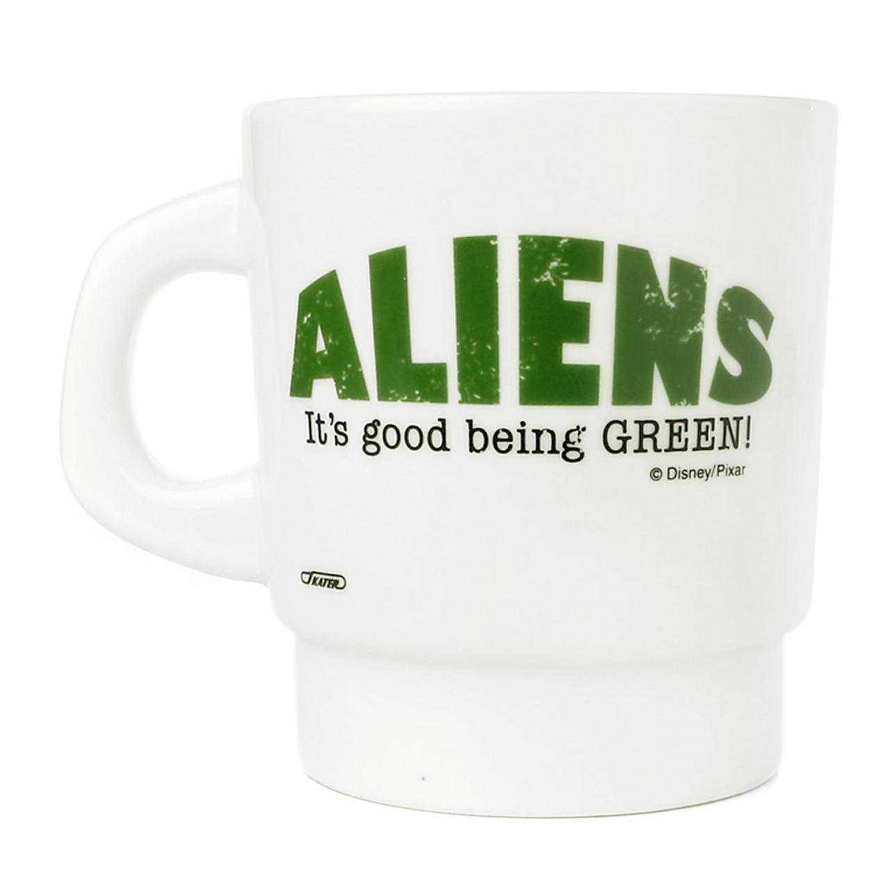 Disney Toy Story Green Aliens Milky Mug ( Back View )