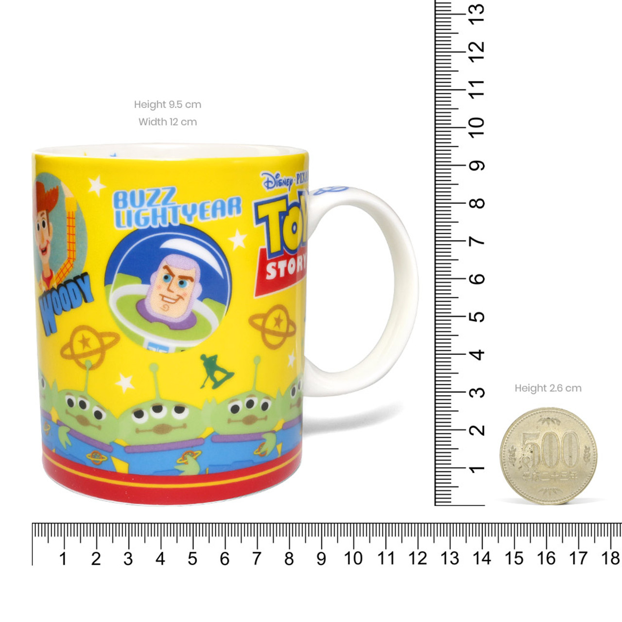 Disney Toy Story Family All In One Ceramic Mug ( Proportion )
