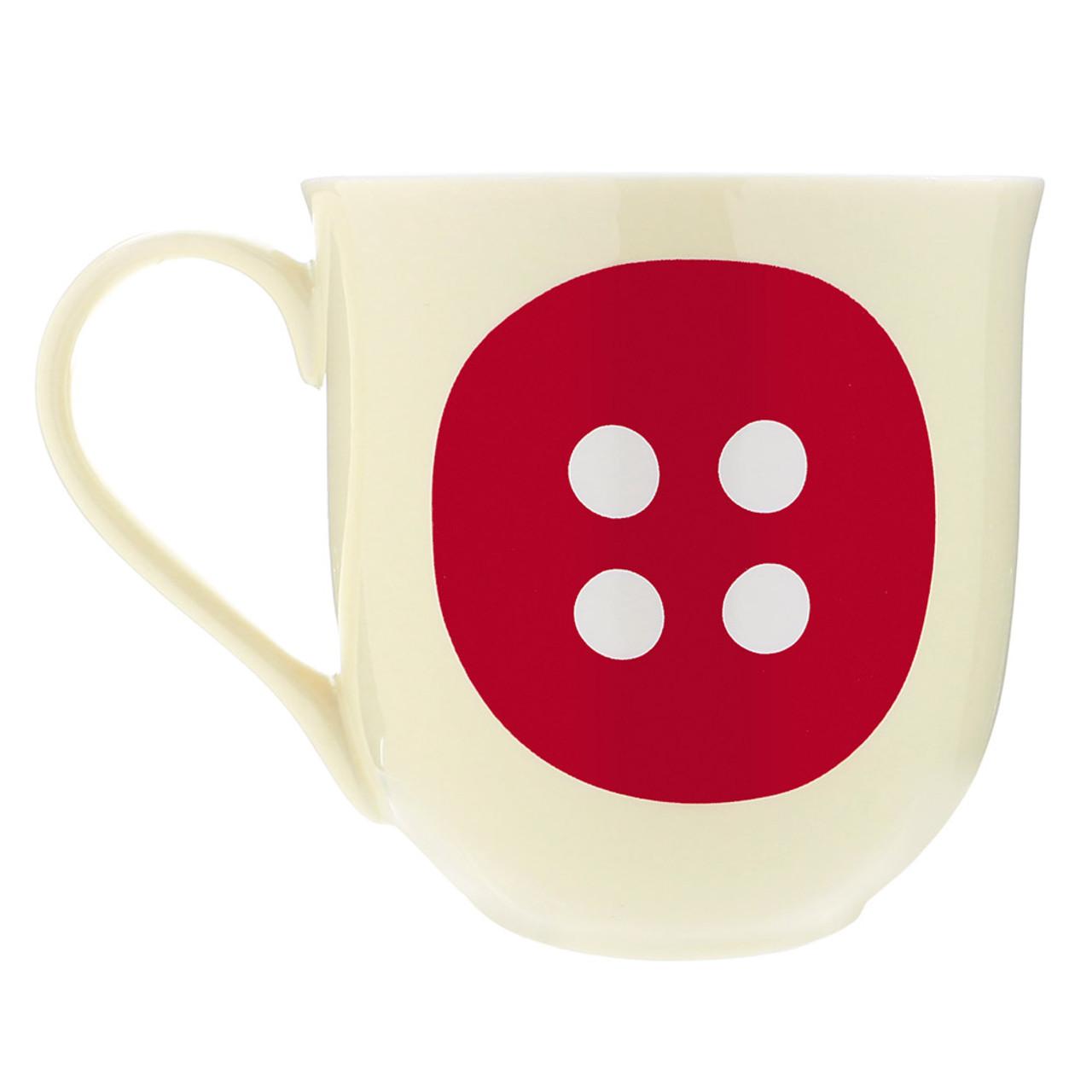 Korilakkuma Sharp Red Button Ceramic Mug ( Front View )