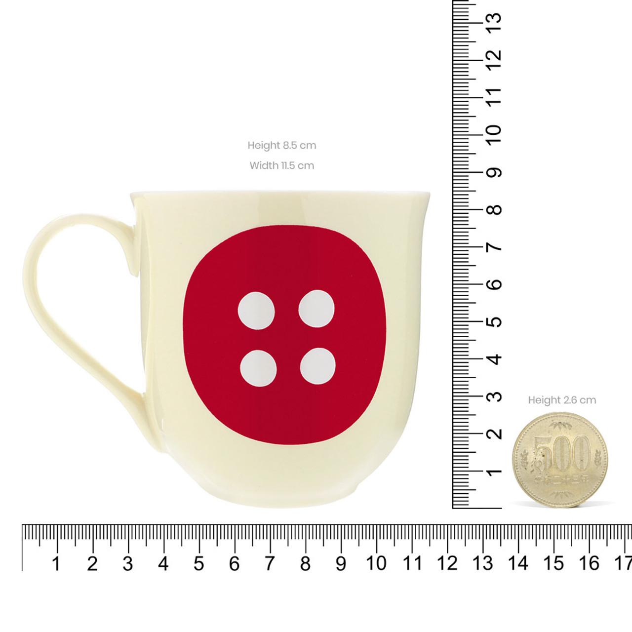 Korilakkuma Sharp Red Button Ceramic Mug ( Proportion )