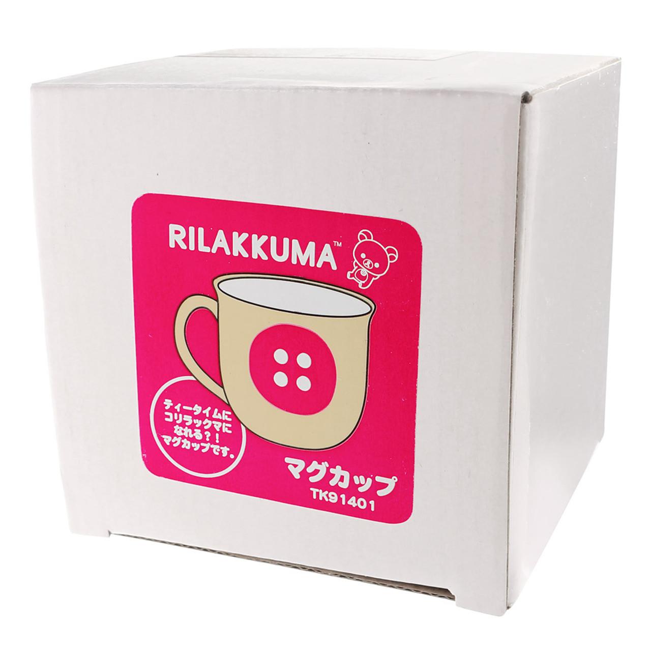 Korilakkuma Sharp Red Button Ceramic Mug ( Box View )