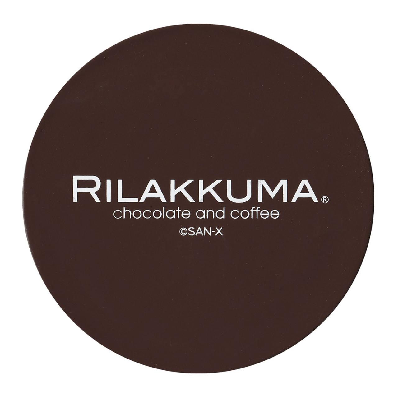 San-x Rilakkuma Circle Chocolate Coffee Mug Coaster - KY00901 ( Back View )