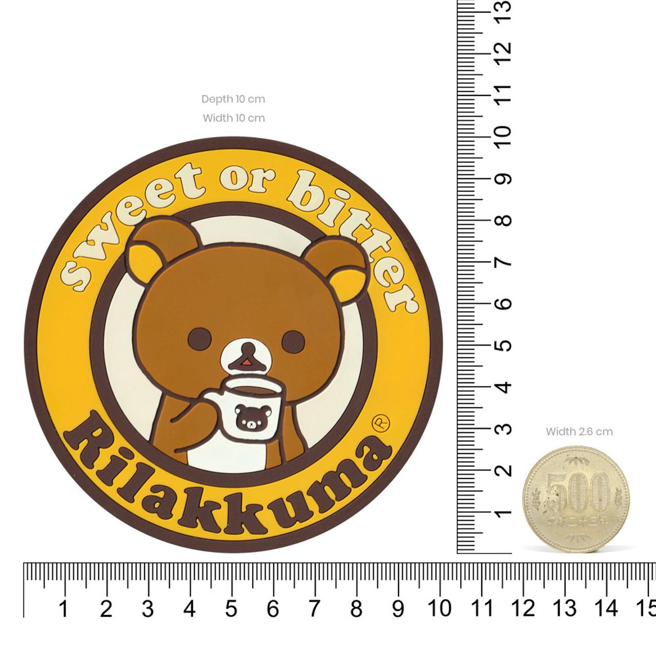 San-x Rilakkuma Circle Chocolate Coffee Cup Coaster - KY00901 ( Proportion )