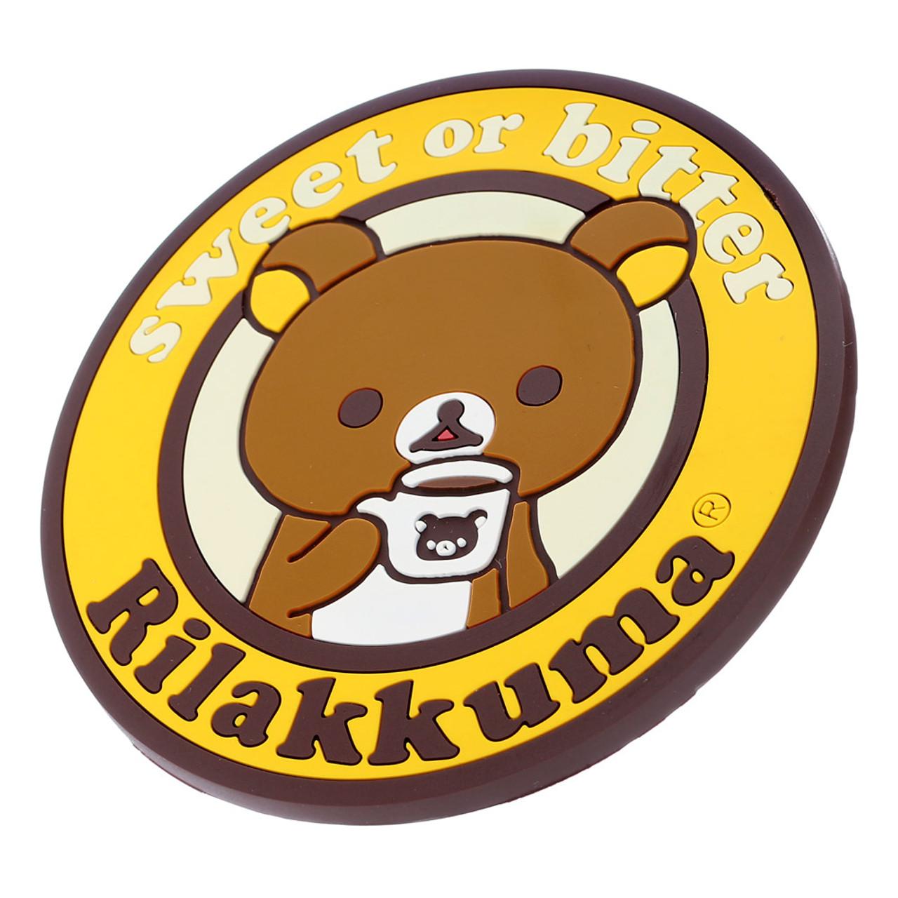 San-x Rilakkuma Circle Chocolate Coffee Cup Coaster - KY00901 ( Side )