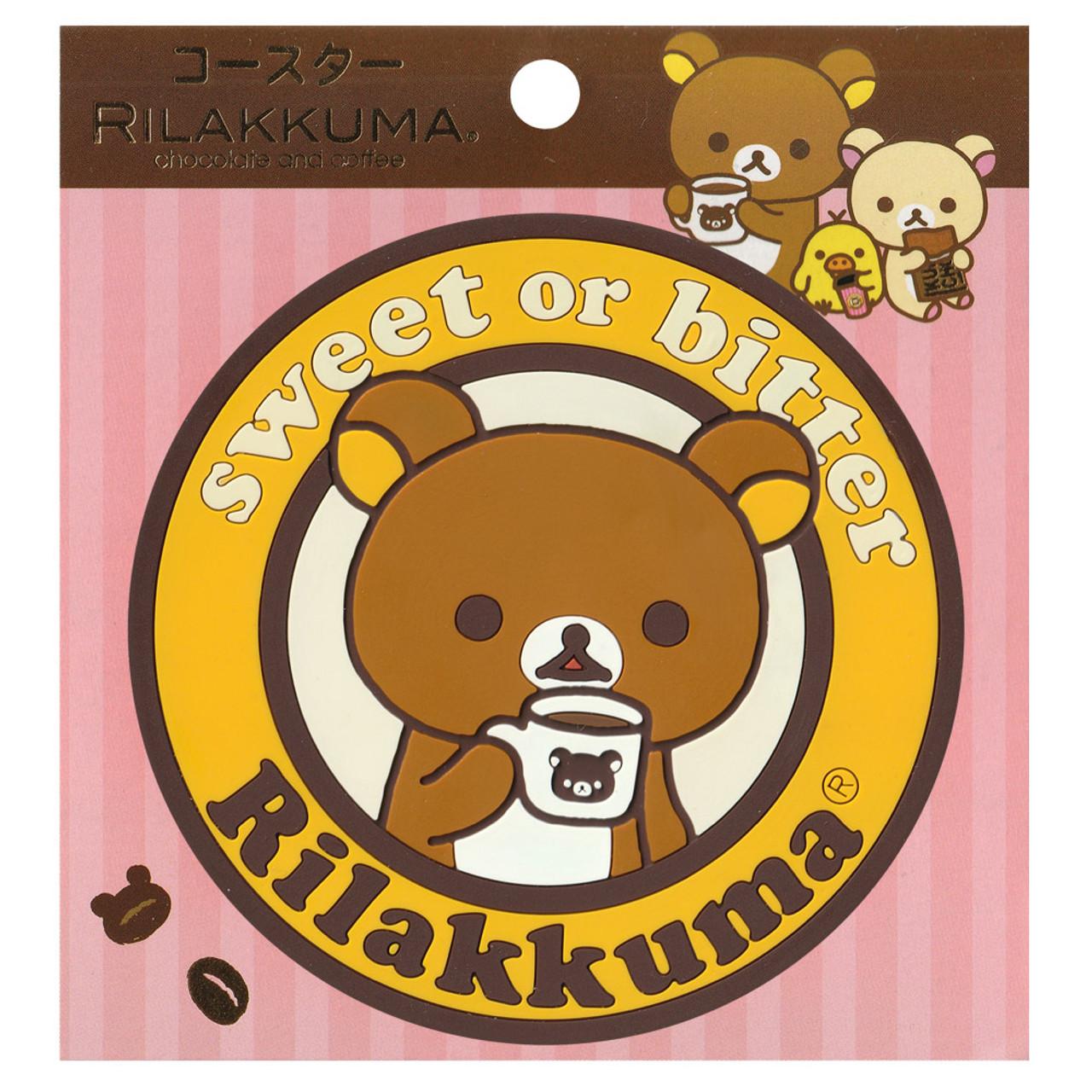 San-x Rilakkuma Circle Chocolate Coffee Mug Coaster - KY00901 ( Packing Front View )