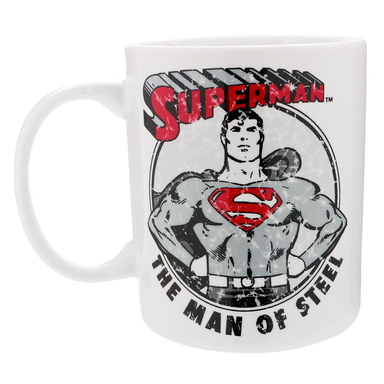 DC Comics Superman Stamp Ceramic Mug ( Back View )