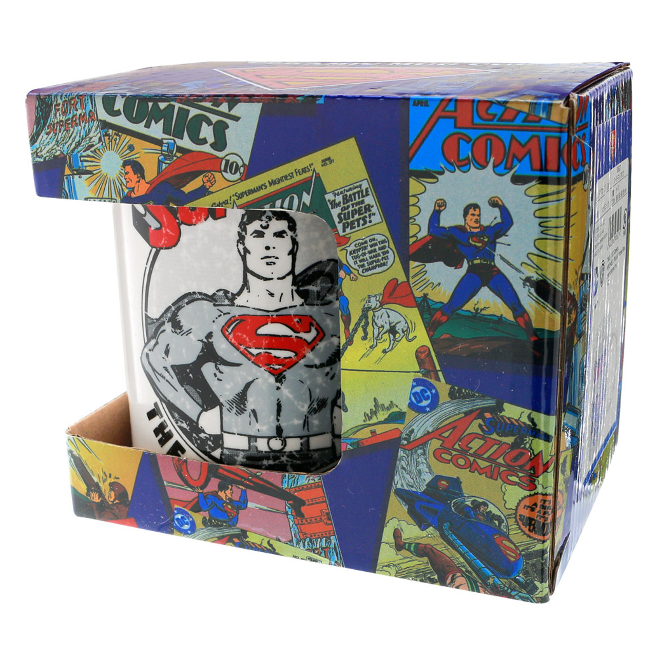 DC Comics Superman Stamp Ceramic Cup ( Box View )