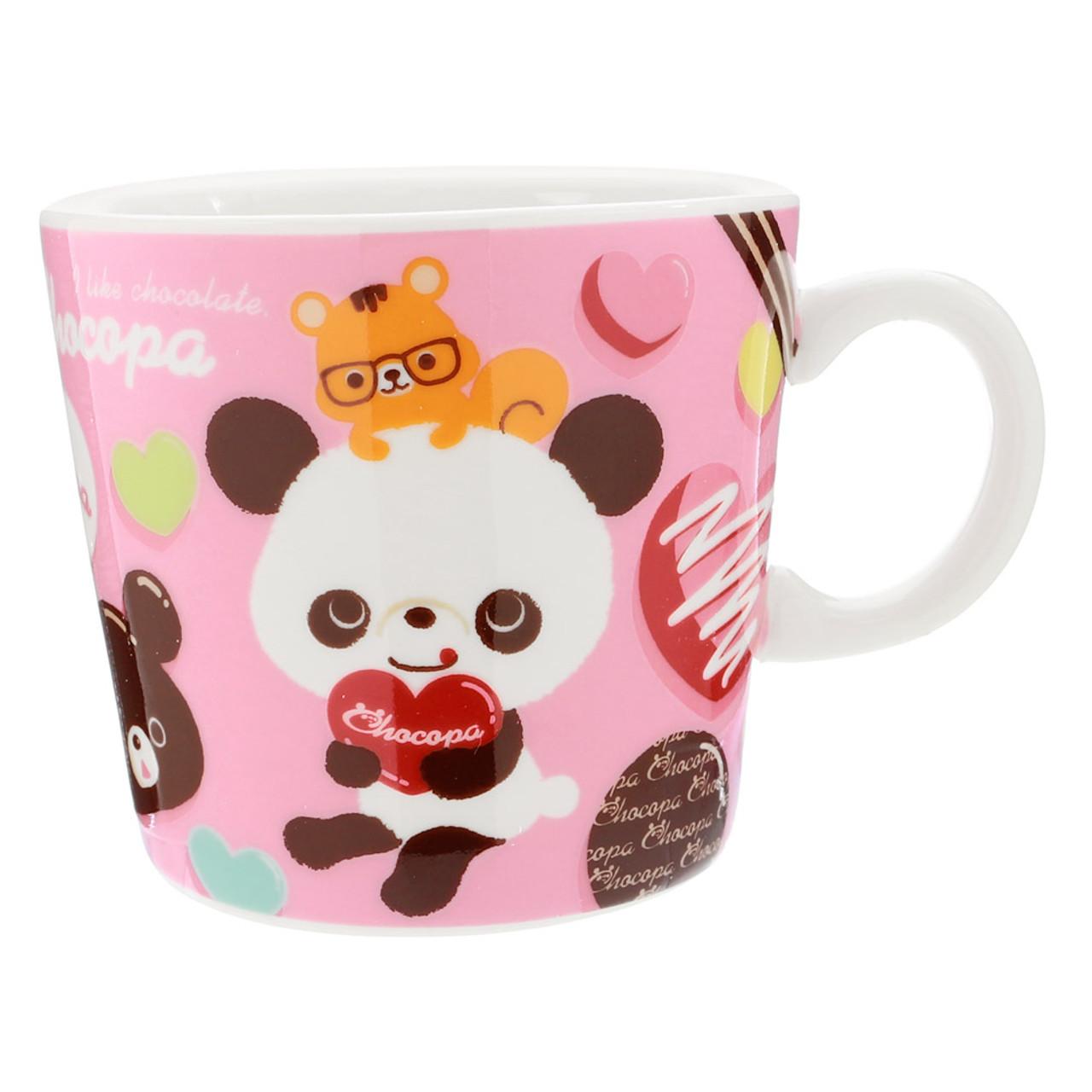 San-x Chocopa Panda Pink Porcelain Cup ( Front View )