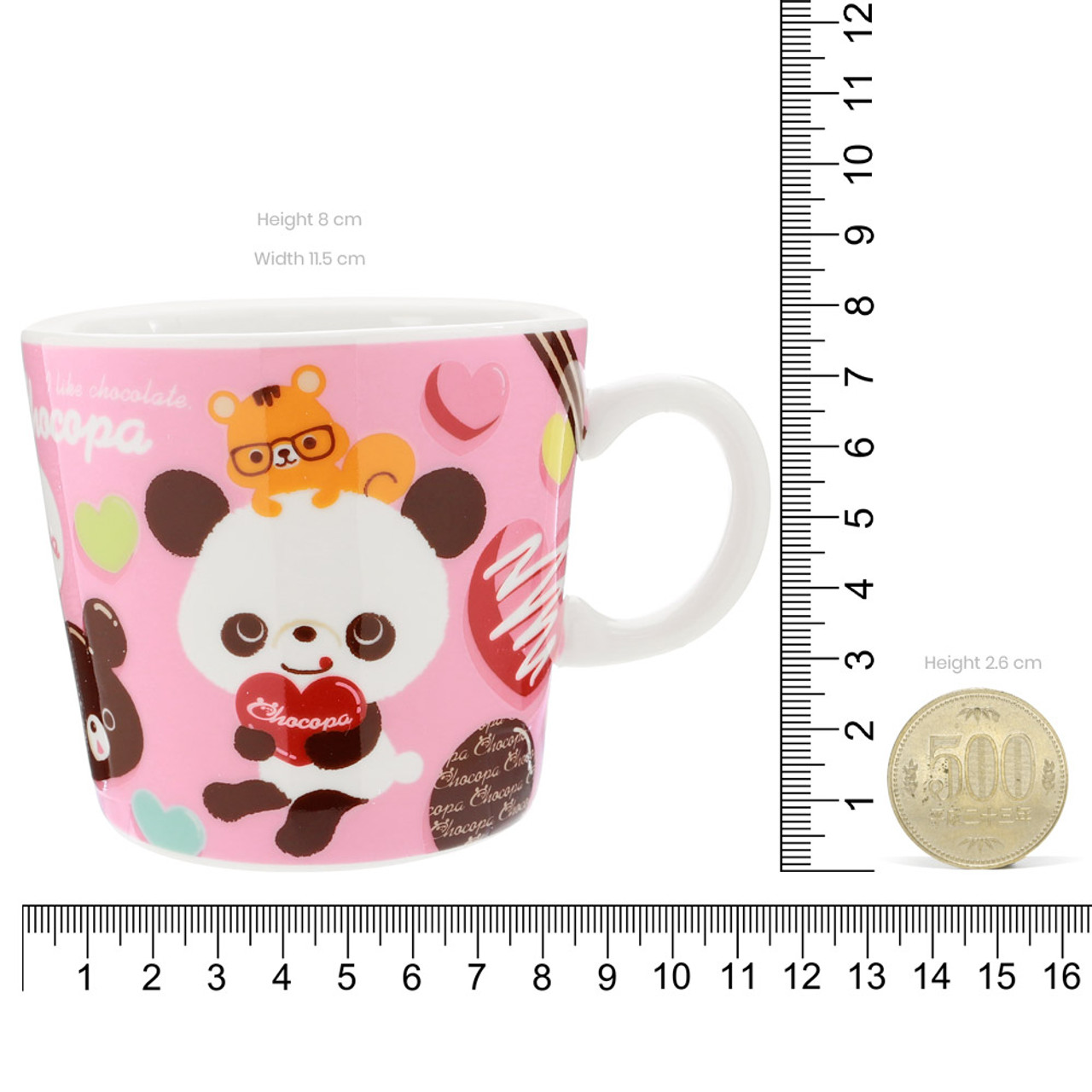 San-x Chocopa Panda Pink Porcelain Cup ( Proportion )