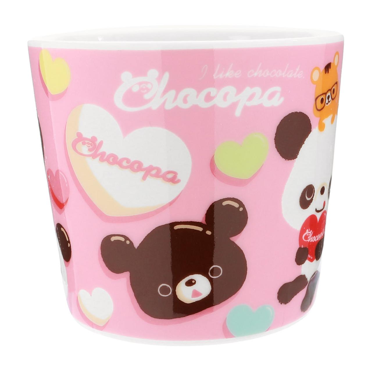 San-x Chocopa Panda Pink Porcelain Mug ( Side View )