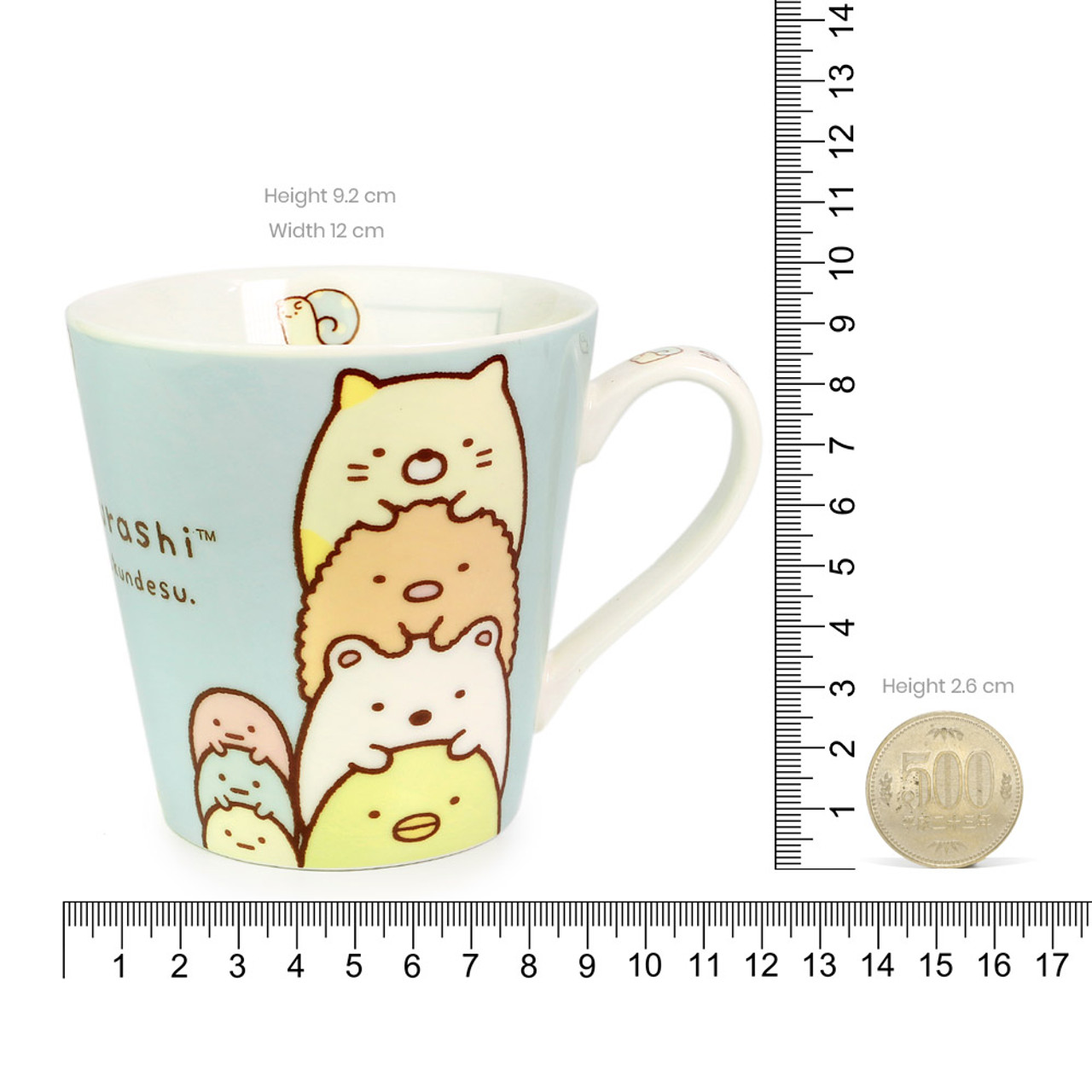 Sumikko Gurashi Measure Ceramic Cup - Vertical ( Proportion )