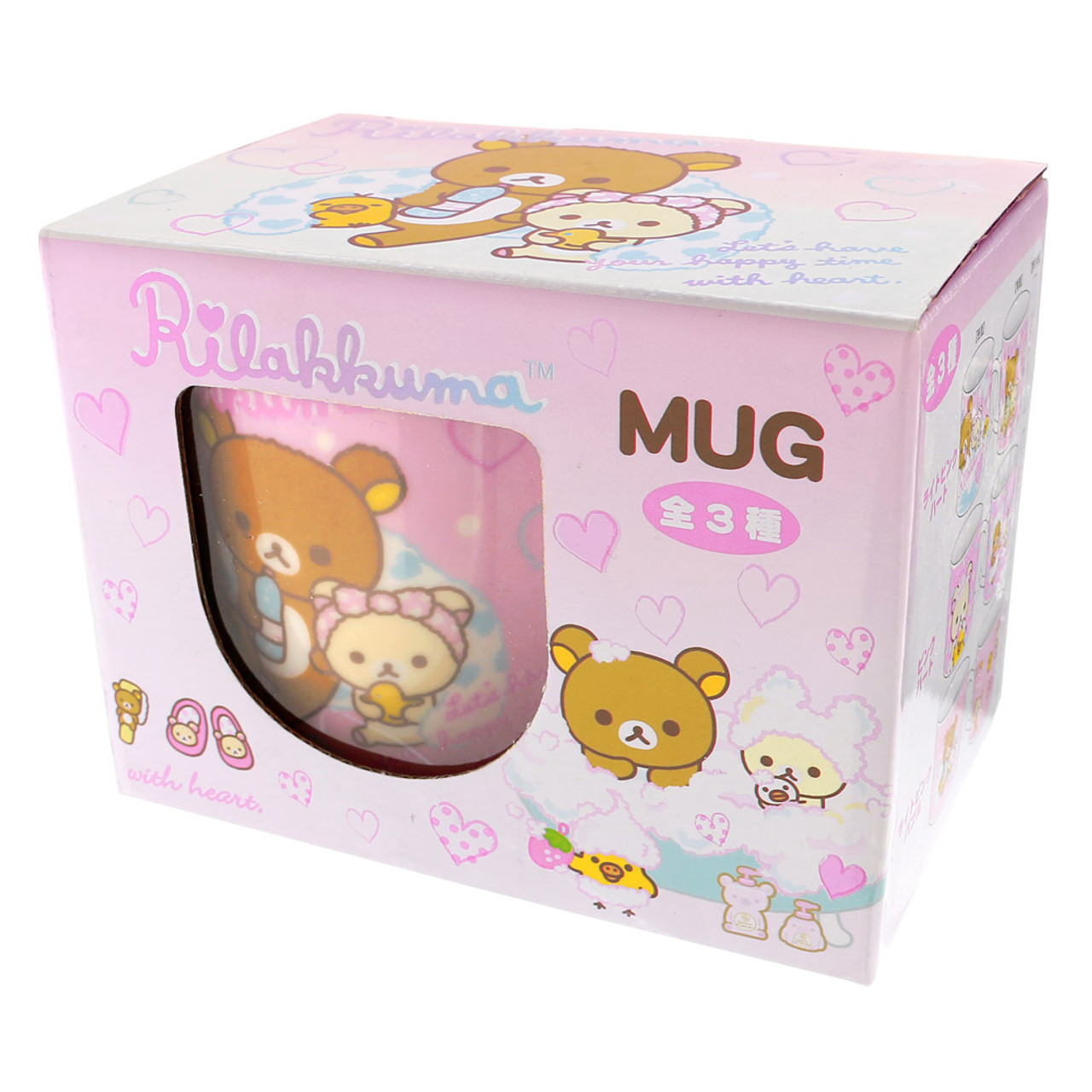 San-x Rilakkuma Bath Time Light Pink Ceramic Mug - Bubble ( Box View )