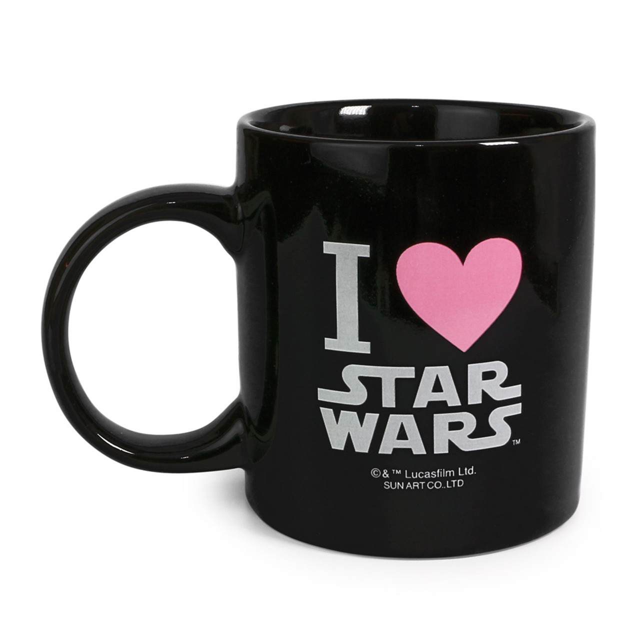 Star Wars R2-D2 Typography Black Ceramic Cup ( Back View )