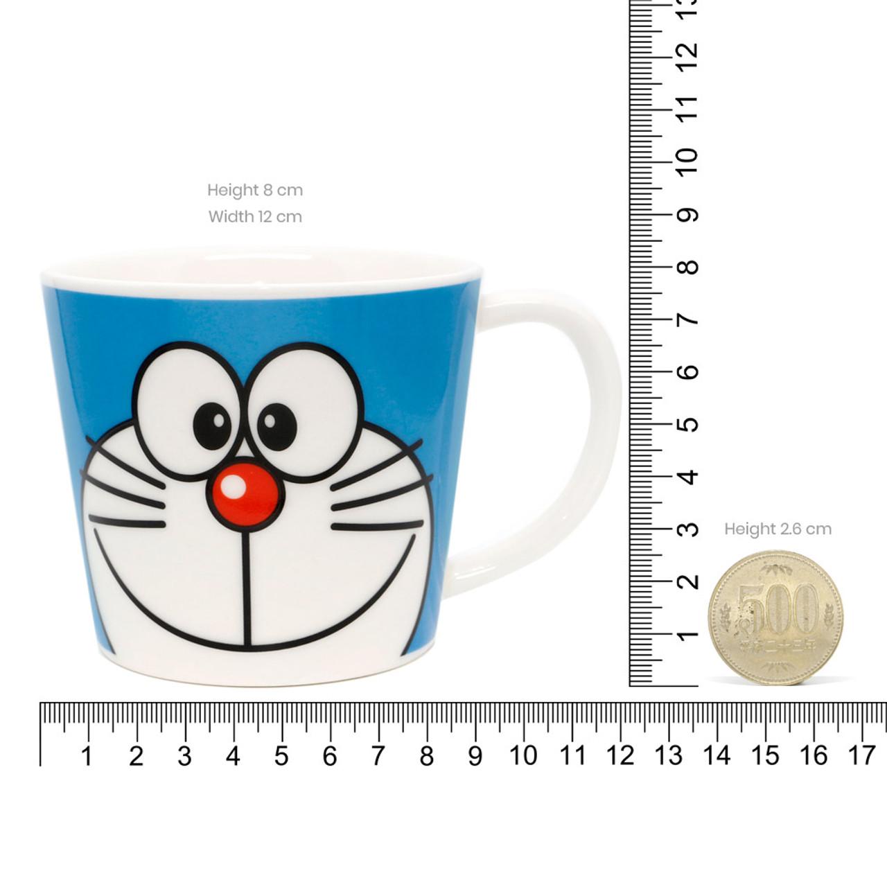Japan Doraemon Face Porcelain Coffee Mug - Doraemon ( Proportion )