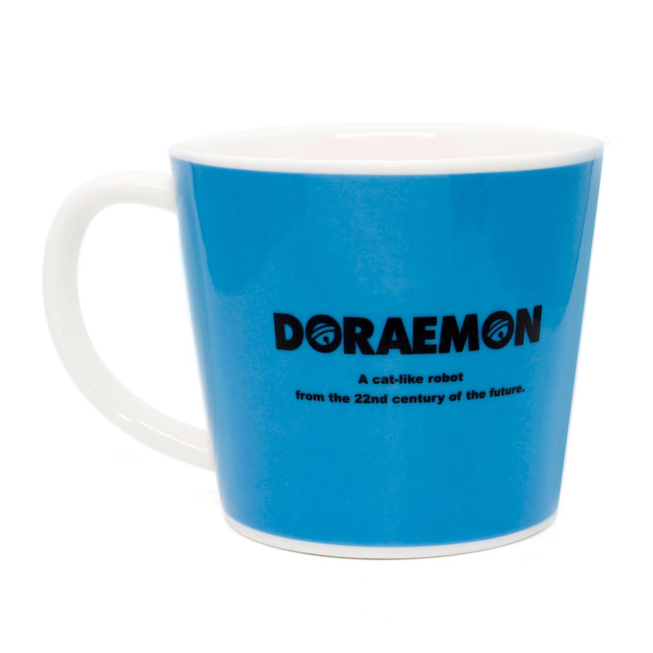 Japan Doraemon Face Porcelain Coffee Mug - Doraemon ( Back View )