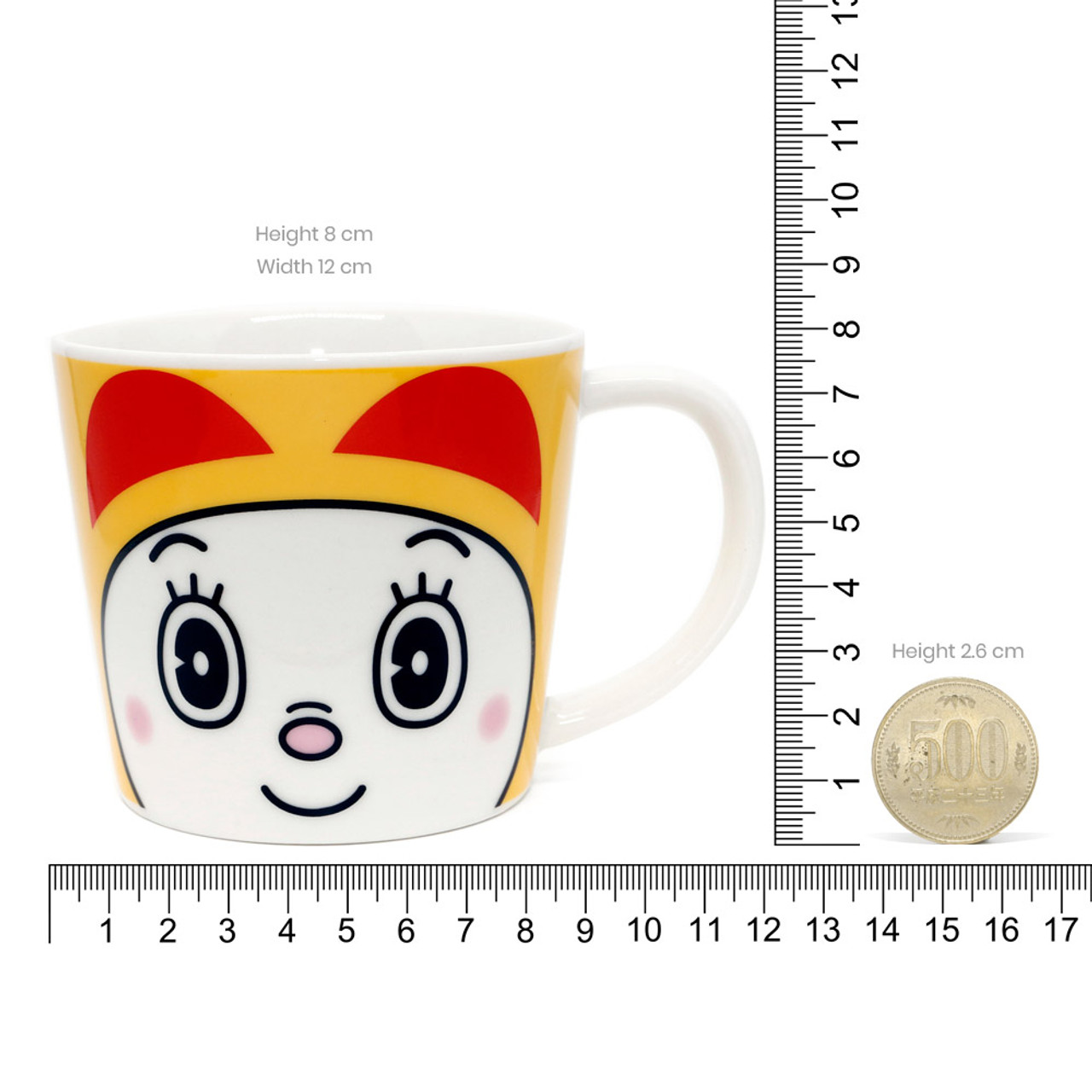 Japan Doraemon Face Porcelain Coffee Mug - Dorami ( Proportion )