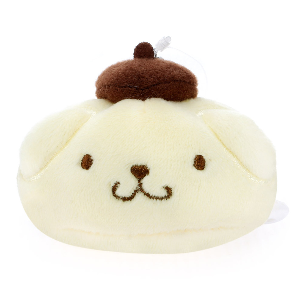 Pompompurin Steamed Buns Mascot Plush Keychain ( Front View )