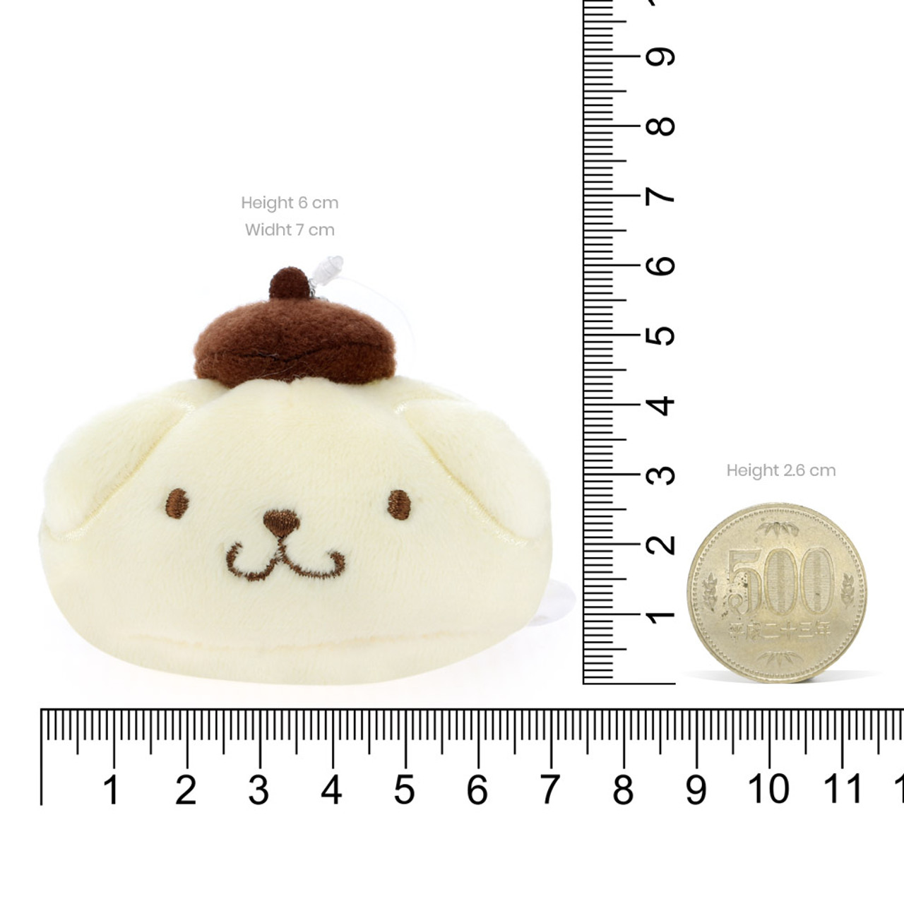 Pom Pom Purin Steamed Buns Mascot Doll Charms ( Proportion )