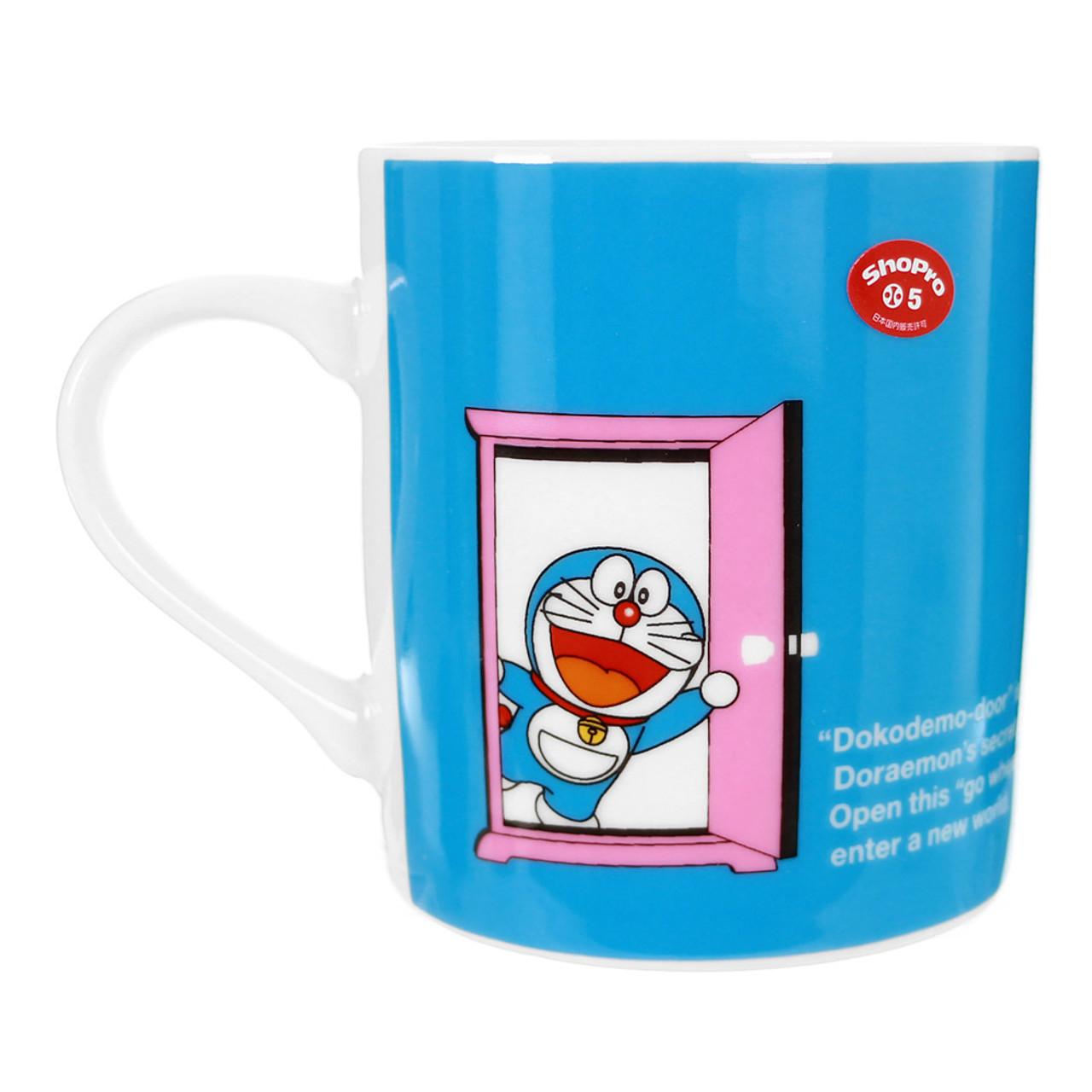 Doraemon Secret Pink Door Porcelain Cup ( Back View )