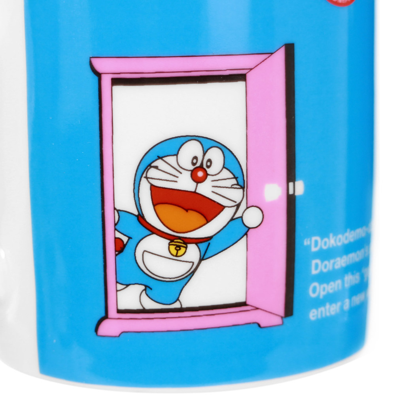 Doraemon Secret Pink Door Porcelain Cup ( Close-up )